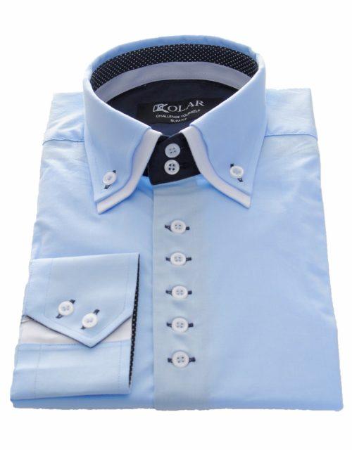 """Moška srajca """"LIGHT BLUE - WHITE"""""""