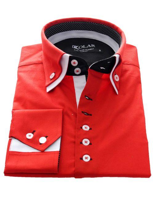 """Moška srajca """"RED – WHITE"""""""