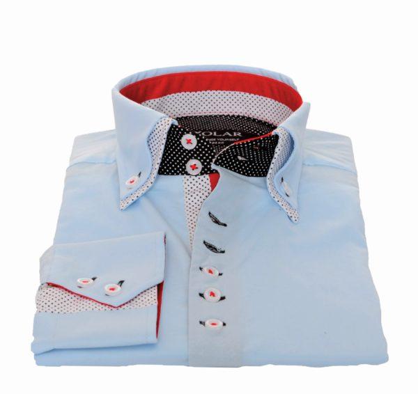 """Moška srajca """"LIGHT BLUE RED – WHITE"""""""