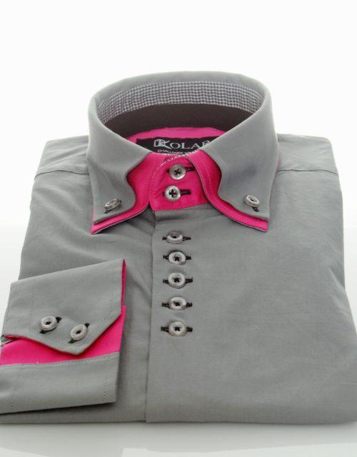 "Moška srajca ""GRAY – PINK"""