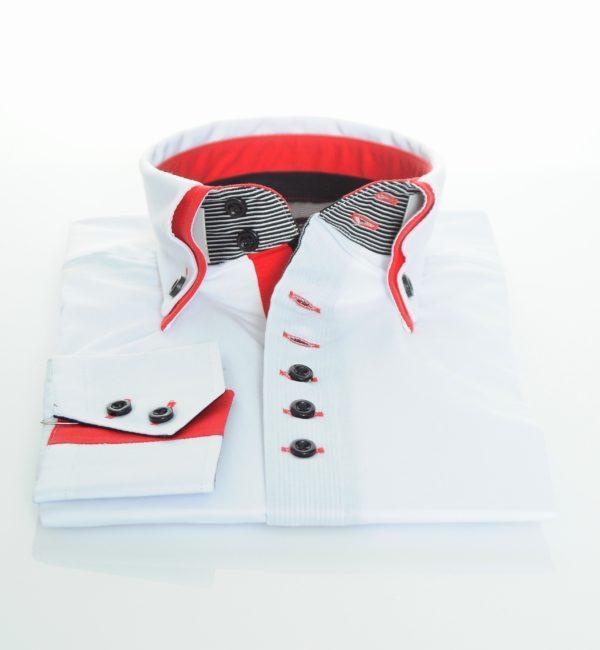 """Moška srajca """"WHITE RED – BLACK"""""""