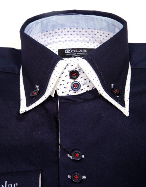 """Muška košulja """"DARK BLUE – WHITE PARIS"""""""