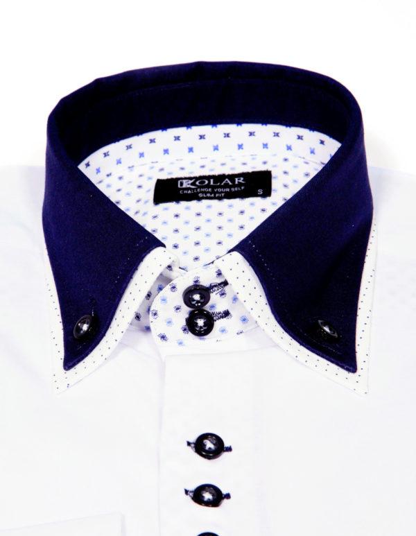 """Muška košulja """"WHITE– DARK BLUE PARIS"""""""