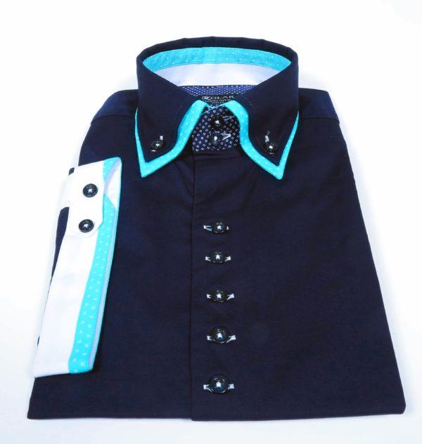 """Muška košulja """"DARK BLUE – TURQUOISE"""""""