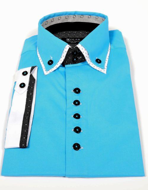 """Muška košulja """"TURQUOISE – BLACK OXFORD"""""""