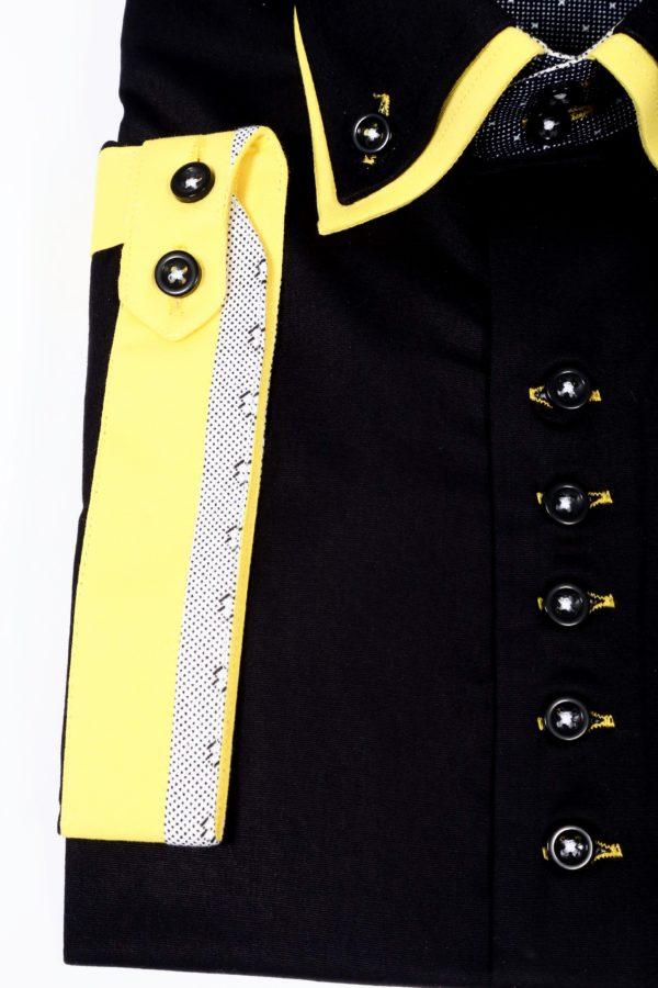 "Muška košulja ""BLACK – YELLOW WHITE"""