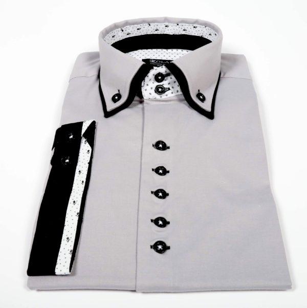 """Moška srajca """"GRAY – BLACK WHITE"""""""