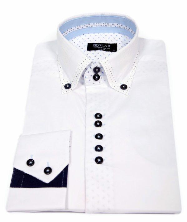 """Muška košulja """"WHITE – DARK BLUE PREMIUM"""""""
