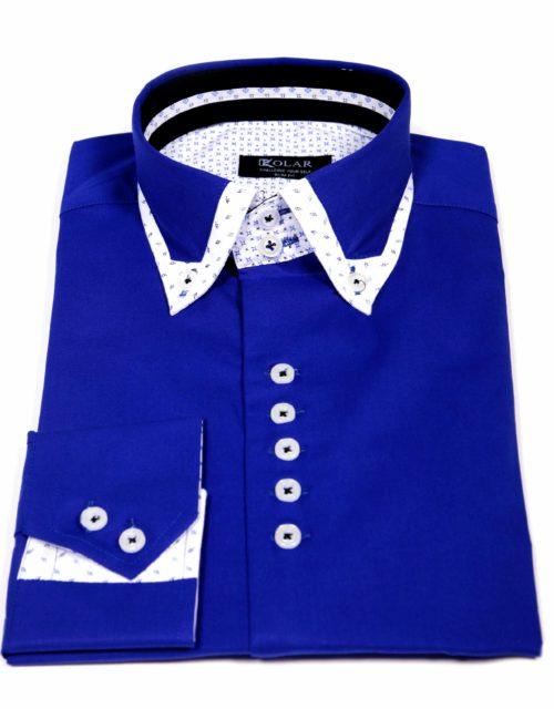 """Muška košulja """"ROYAL BLUE – WHITE PREMIUM"""""""