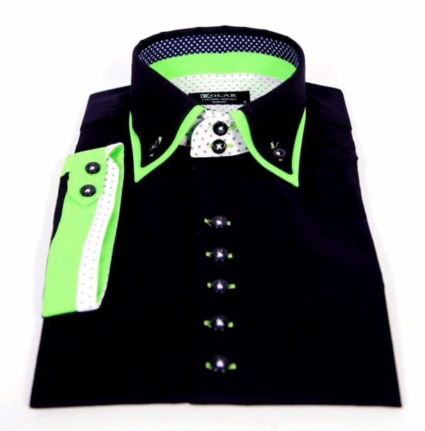"""Moška srajca """"BLACK – GREEN WHITE"""""""
